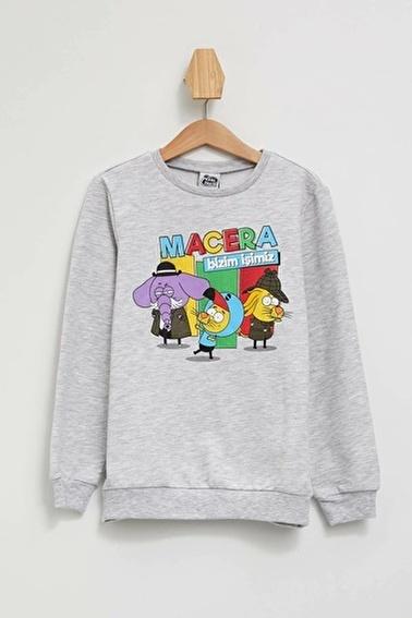 DeFacto Kral Şakir Lisanslı Sweatshirt Gri